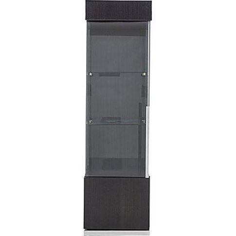 ALF - St Moritz 1 Door Left Hand Curio Cabinet - Grey