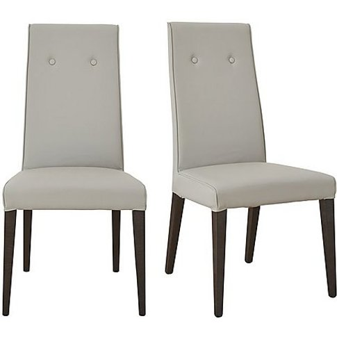 St Moritz Pair Of Faux Leather Upholstered Dining Ch...