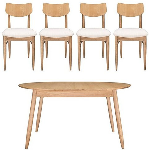 Teramo Small Dining Table And 4 Alia Chairs