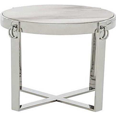 Tamburo Lamp Table - Grey - By Furniture Village