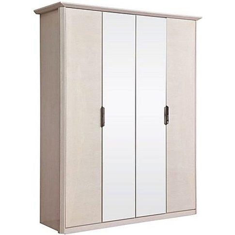Taormina 4 Door Hinged Wardrobe - Beige - By Furnitu...