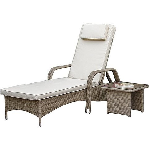 Verde Sun Lounger with Table