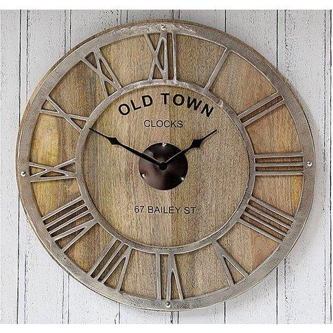 Mango Wood Wall Clock