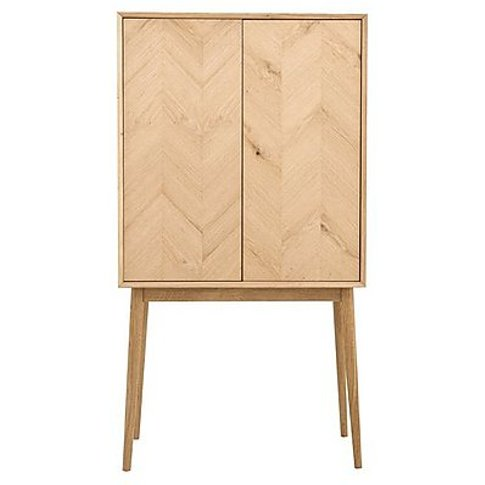 Walker 2 Door Cocktail Cabinet - Brown - By Furnitur...