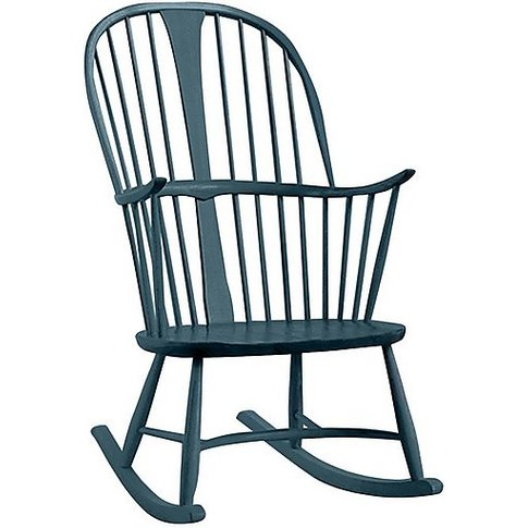 Ercol - Originals Chairmakers Rocking Chair - Blue
