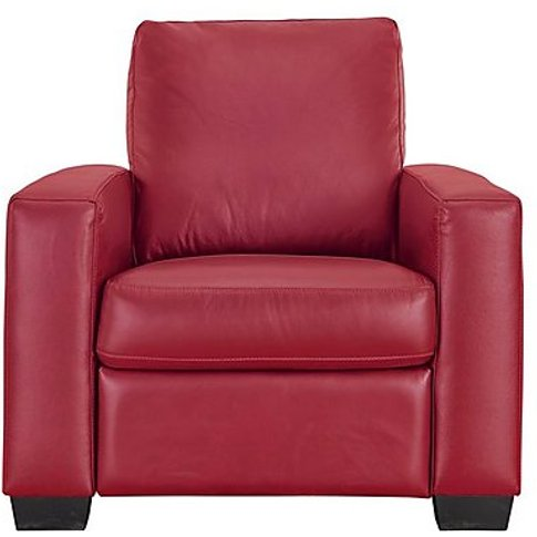 Dante Leather Recliner Armchair - Red