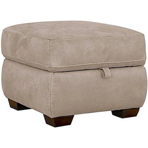 Paloma Fabric Storage Footstool - Beige