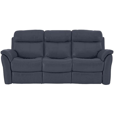 Relax Station Revive 3 Seater Leather Manual Recline...