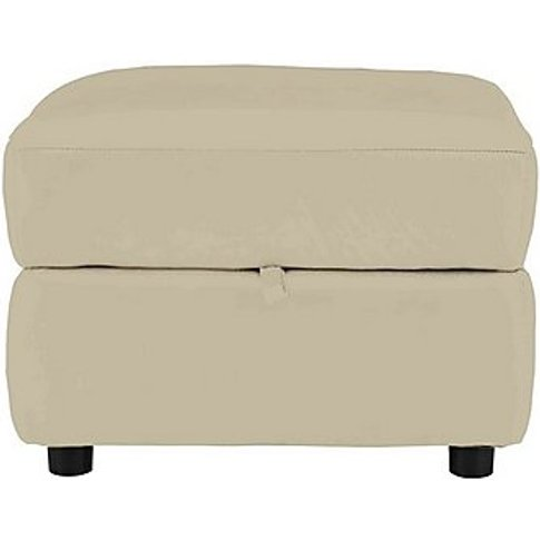 Relax Station Revive Leather Storage Footstool - Bei...