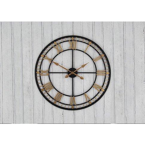 Antique Metal Wall Clock