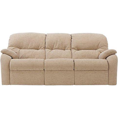G Plan - Mistral 3 Seater Fabric Recliner Sofa - Cream