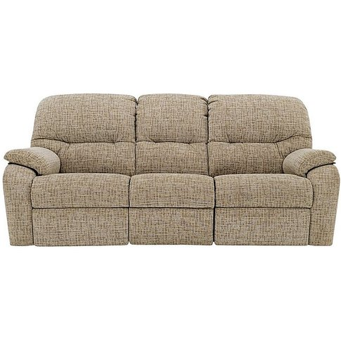 G Plan - Mistral 3 Seater Fabric Manual Recliner Sofa
