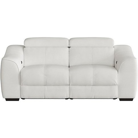 World Of Leather - Elixir 2 Seater Leather Manual Recliner Sofa - White