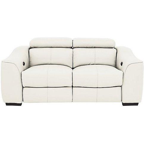 Elixir 2 Seater Leather Manual Recliner Sofa - White...