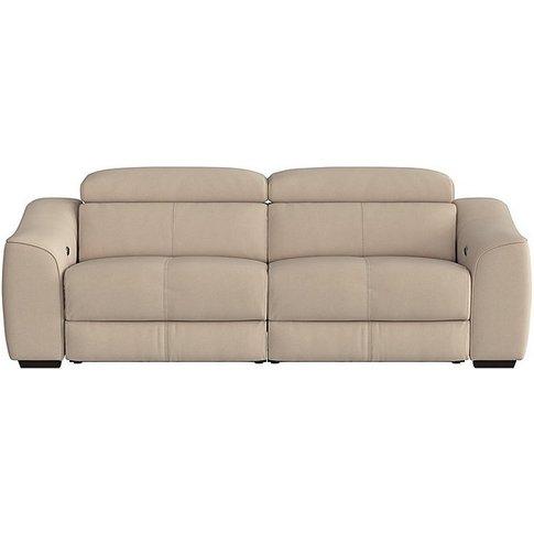Elixir 3 Seater Fabric Power Recliner Sofa - Cream -...