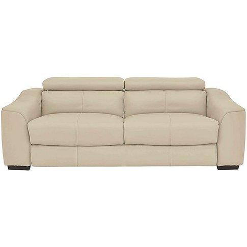 Elixir 3 Seater Leather Sofa - Cream- World Of Leather