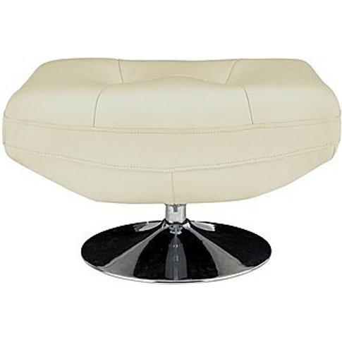 Salvador Leather Swivel Footstool