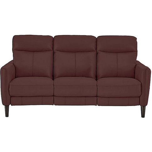 Compact Collection Petit 3 Seater Leather Sofa- Worl...