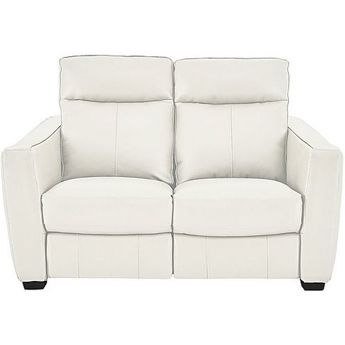 Compact Collection Midi 2 Seater Leather Recliner Sofa