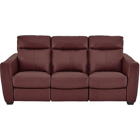 Compact Collection Midi 3 Seater Leather Power Recli...