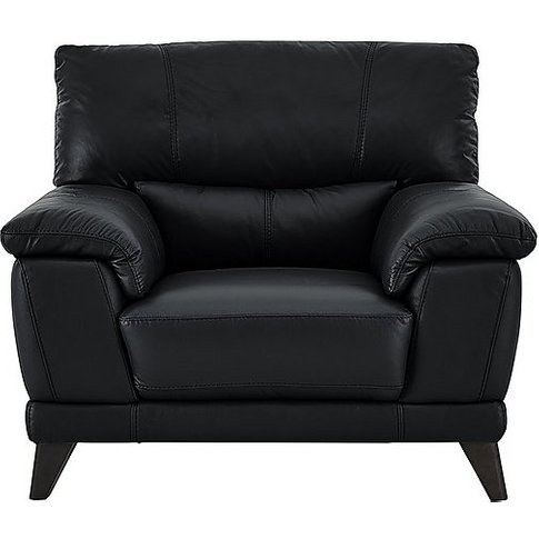 Pacific Leather Armchair - Black- World Of Leather