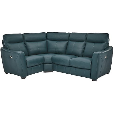 Compact Collection Midi Leather Manual Recliner Corn...