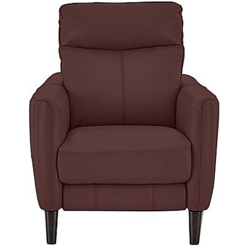 Compact Collection Petit Leather Power Recliner Armchair- World Of Leather