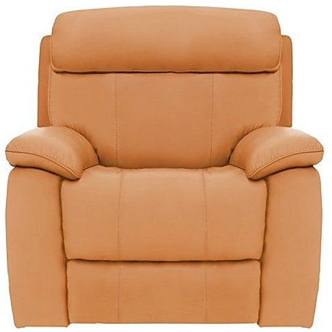 Moreno Leather Power Recliner Armchair - Yellow- World Of Leather