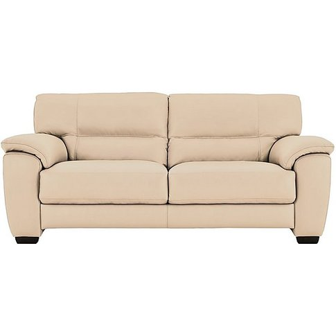 World Of Leather - Shades 3 Seater Leather Sofa - Beige