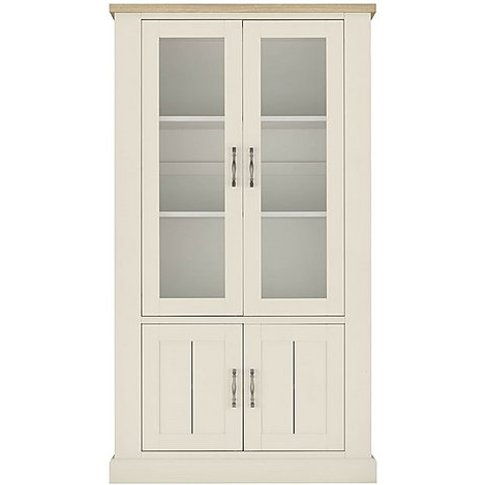 Pierre Display Cabinet - White - By Furniture Village