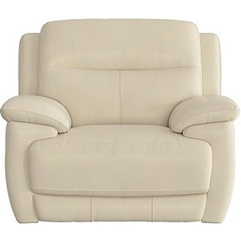 World Of Leather - Touch Leather Power Recliner Armc...