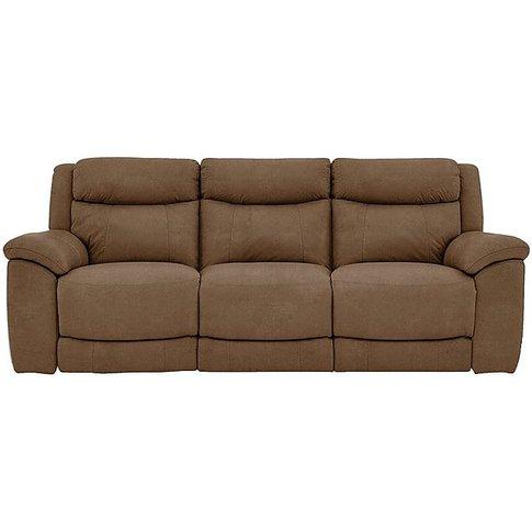 Bounce 3 Seater Fabric Manual Recliner Sofa - Brown ...