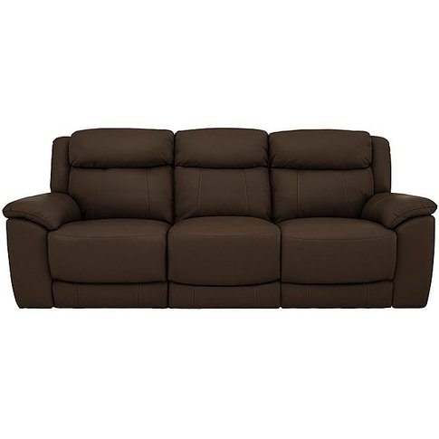 World Of Leather - Bounce 3 Seater Leather Sofa - Brown