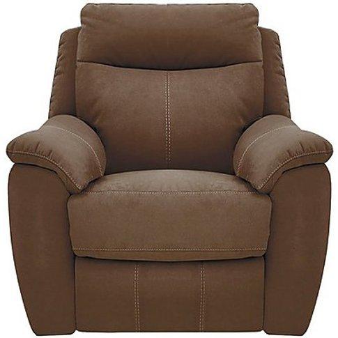 Snug Fabric Manual Recliner Armchair