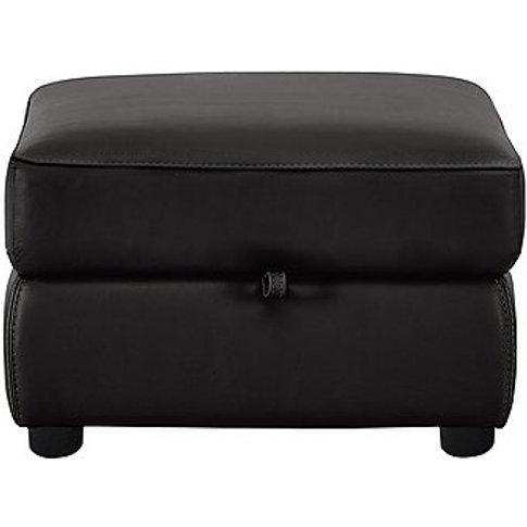 Snug Leather Storage Footstool