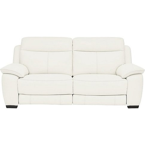 Starlight Express 3 Seater Leather Sofa - White- Wor...