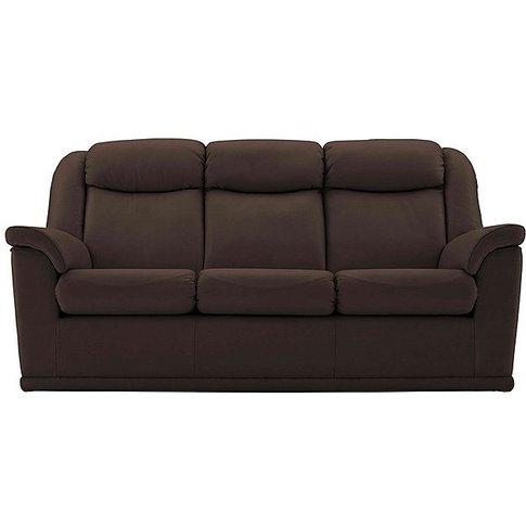 G Plan - Milton 3 Seater Leather Sofa - Brown