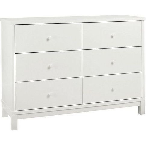 Eva 6 Drawer Chest - White - By Furniture Village