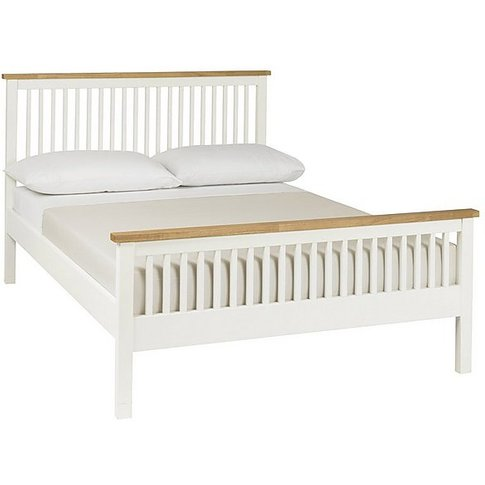 Eva High Footend Bed Frame - Small Double - White - ...