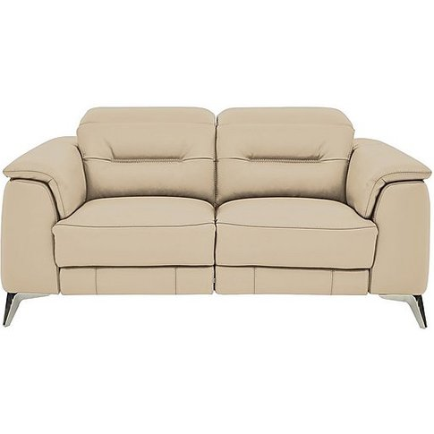 Sanza 2 Seater Leather Sofa - Beige- World Of Leather