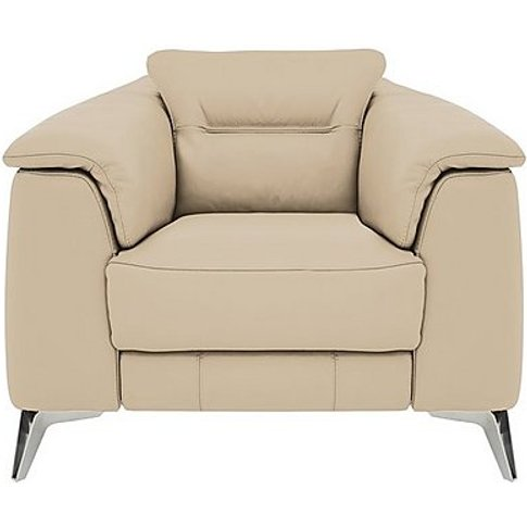 Sanza Leather Armchair - Beige- World Of Leather