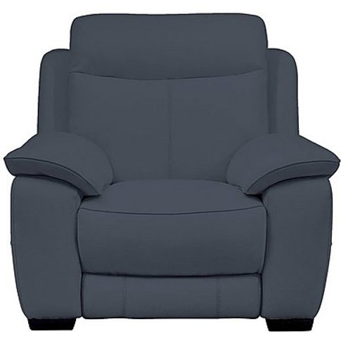 Starlight Express Leather Manual Recliner Armchair -...