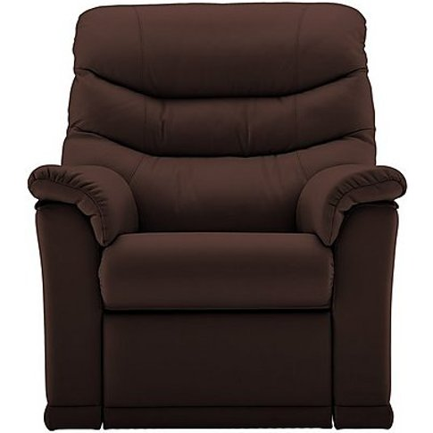 Malvern Leather Manual Recliner Armchair