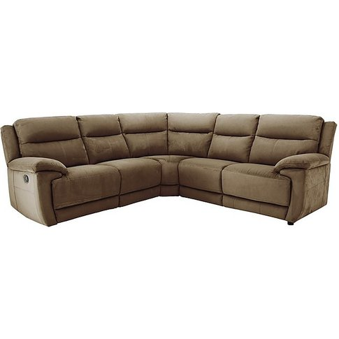 Touch Fabric Recliner Corner Sofa - By Furniture Vil...