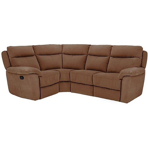 Snug Compact Fabric Manual Recliner Corner Sofa