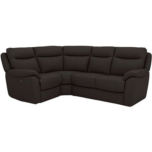 Snug Compact Leather Power Recliner Corner Sofa - Brown- World Of Leather