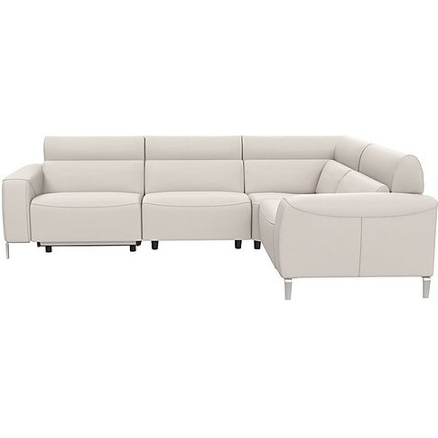 Lusso Leather Power Recliner Corner Sofa With Power ...