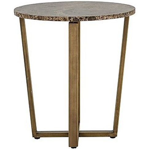 Troy Marble Lamp Table - Grey