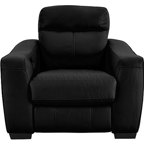 World Of Leather - Cressida Leather Recliner Armchair - Black