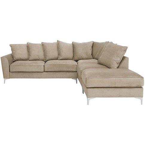 Legend Pillow Back Luxury Fibre Fabric Corner Sofa -...